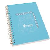Clear 7 x 10 Spiral Journal Notebook-Planning My Work Working My Plan