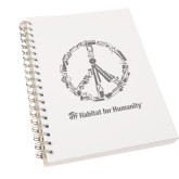 Clear 7 x 10 Spiral Journal Notebook-Peace Tools