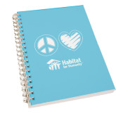 Clear 7 x 10 Spiral Journal Notebook-Peace Love Habitat