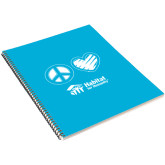 College Spiral Notebook w/Black Coil-Peace Love Habitat