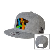 Heather Grey Wool Blend Flat Bill Snapback Hat-Beloved Community