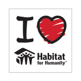 Small Magnet-I Love Habitat for Humanity, 6 in wide