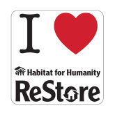 Small Magnet-I Heart Restore, 6 Inches Wide