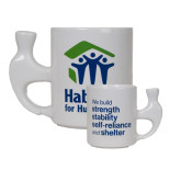 White Ceramic Hammer Mug-