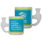 White Ceramic Hammer Mug-