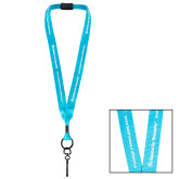 Polyester 3/4 Inch Turquoise Lanyard-