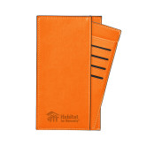 Parker Orange RFID Travel Wallet-Engraved
