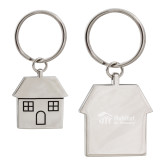 Silver House Key Holder-Engraved