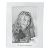 Silver Two Tone 8 x 10 Photo Frame-Flat Logo Engraved