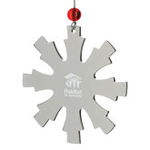 Stainless Steel Snowflake Ornament-Stacked Logo Engraved