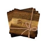 Acacia Wood Coaster Set-Engraved