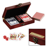 Executive Card & Dice Set-Flat Logo Engraved