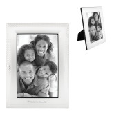 Satin Silver Metal Textured 4 x 6 Photo Frame-Flat Logo Engraved