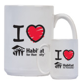 Full Color White Mug 15oz-I Love Habitat for Humanity