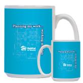 Full Color White Mug 15oz-Planning My Work Working My Plan