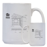 Full Color White Mug 15oz-Habitat Room Frame