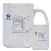 Full Color White Mug 15oz-Habitat Room Frame