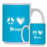 Full Color White Mug 15oz-Peace Love Habitat