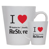 Full Color Latte Mug 12oz-I Heart Restore