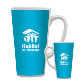 Full Color Latte Mug 17oz-Stacked Logo