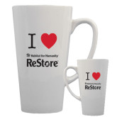 Full Color Latte Mug 17oz-I Heart Restore
