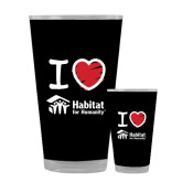 Full Color Glass 17oz-I Love Habitat for Humanity