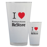Full Color Glass 17oz-I Heart Restore