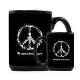 Full Color Black Mug 15oz-Peace Tools