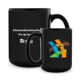 Full Color Black Mug 15oz-Beloved Community Its Up To Us
