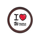 Round Coaster Frame w/Insert-I Love Habitat for Humanity