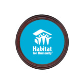 Round Coaster Frame w/Insert-Stacked Logo