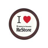 Round Coaster Frame w/Insert-I Heart Restore