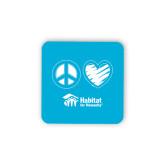 Hardboard Coaster w/Cork Backing-Peace Love Habitat