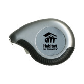 Silver Raindrop 10 Ft. Tape Measure-Stacked Logo