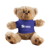 Plush Big Paw 8 1/2 inch Brown Bear w/Royal Shirt-