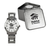 Ladies Stainless Steel Fashion Watch-Stacked Logo