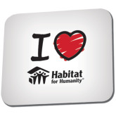 Full Color Mousepad-I Love Habitat for Humanity