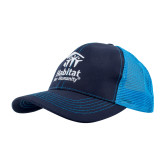 Habitat Navy and Blue Mesh Cap-
