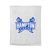 White Rally Towel-Hampton Pirates Swords