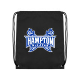 Black Drawstring Backpack-Hampton Pirates Swords