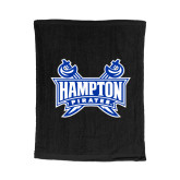 Black Rally Towel-Hampton Pirates Swords