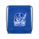 Royal Drawstring Backpack-Hampton Pirates