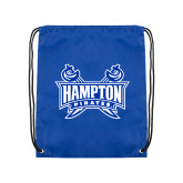 Royal Drawstring Backpack-Hampton Pirates Swords