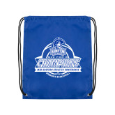 Royal Drawstring Backpack-2017 MEAC Womens Basketball Champions