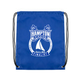 Royal Drawstring Backpack-Hampton Sailing Championship Finalist