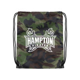 Camo Drawstring Backpack-Hampton Pirates Swords