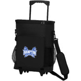 30 Can Black Rolling Cooler Bag-Hampton Pirates Swords