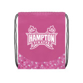Nylon Pink Bubble Patterned Drawstring Backpack-Hampton Pirates Swords