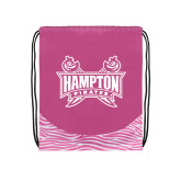 Nylon Zebra Pink/White Patterned Drawstring Backpack-Hampton Pirates Swords
