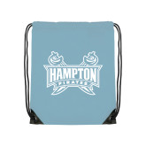 Light Blue Drawstring Backpack-Hampton Pirates Swords